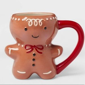 Stoneware Gingerbread Man Mug 11 oz. Set of two